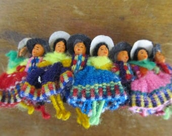 Vintage Peruvian Doll Hair Clip