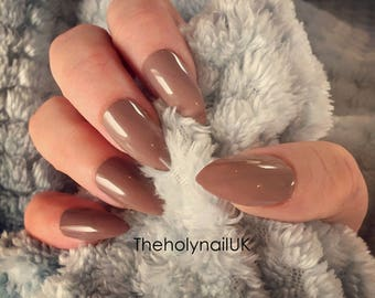 FALSE NAILS - Mocha - Stick On - The Holy Nail