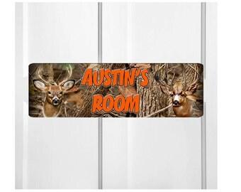 Personalized Kids Room Door Sign-Deer Bedroom Door Sign-Room Plaque