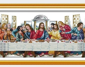 Benway Stamped Cross Stitch The Last Supper 11 Count (With Stamped Aida) 98X44CM