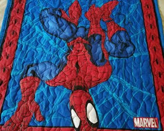 Handmade Marvels Spiderman Baby/Toddler/Child Quilt