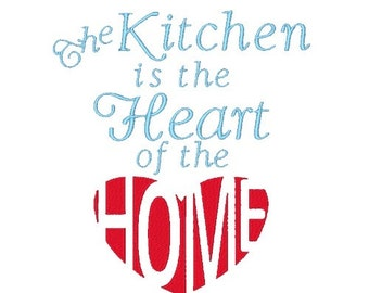 Seasoned with love machine embroidery design kitchen sayings for Kitchen design quotes