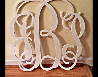 Painted Wooden Monogram - Wooden Monogram Wall Hanging