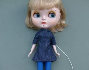 Blythe Set - Denim Dress And Stockings SALE