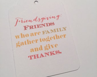 Set of 8 Friendsgiving Thanksgiving Gift Tags Favor Tags-Ships in 3-5 days!