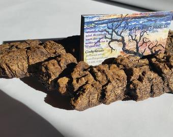 Bark Business Card Holder, Preserved Bark Business Card Holder, Natural Wood Business Card Holder,***FREE SHIPPING***