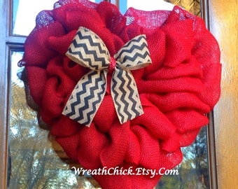 Heart wreath, Valentines day wreath, Rustic Valentine wreath, Burlap wreath, Spring wreath, winter wreath, Front door wreath, burlap wreaths