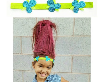 Poppy Troll headband, poppy, Troll hair bow, poppy bow, poppy headband, trolls