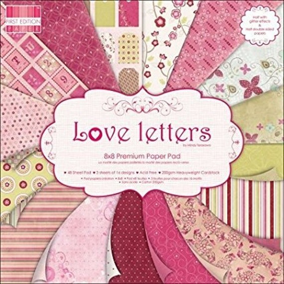 Love Letters By First Edition Scrapbook Paper Pad