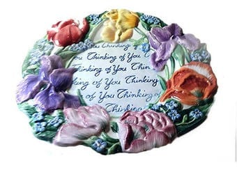Fitz & Floyd Essentials Spring Bouquet.....Thinking of You Canape Plate