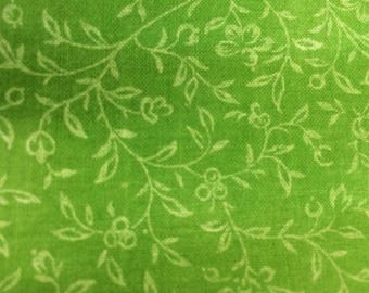 2 Yards Lime Green Fabric w/YFlowers563