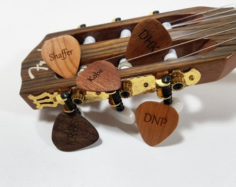 Personalized Guitar Pick, Custom Wood Guitar Pick, Wood Laser Burned Guitar Pick, Music Gift, Gift for Him, Groomsmen Gift, stocking stuffer