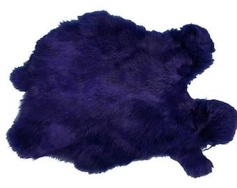 Better Grade Dyed Purple Rabbit Pelt Skin Hide