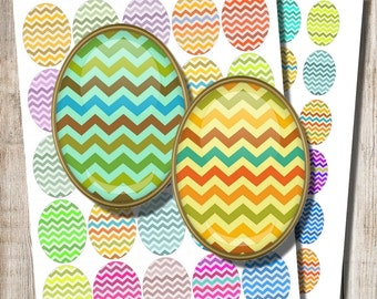 Chevron Earring Images, 18 x 25 mm, 22 x 30 mm Ovals, Easter Jewelry Images, Chevron Decoupage, Commercial Use, Printable Download, d4