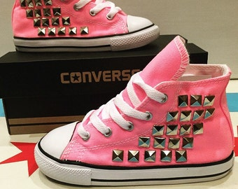 Toddler Custom Studded Converse! ALL SIZES & COLORS!! Chuck Taylor Shoes; Toddler Chucks; Kids Converse; Infant; Baby; Newborn; Bridal Shoes