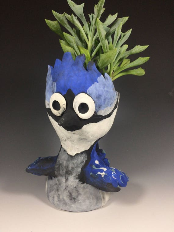 Billy Blue Jay // Blue Jay // Bird // Succulent Planter // Bird Planter // Bird Lover // Ceramic Planter // Blue // Unique Gift // Succulent
