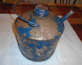 Vintage metal Gas Can.  Gas Can .  Rustic Gas Can