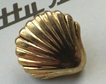 Vintage Buttons - gold plastic