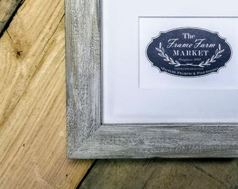 Adrie Rustic White Wood Picture Frame 8x10, 9x12, 11x14, 14x16, 16x20 Custom Standard and custom sizes available.