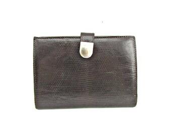 Vintage lizard skin wallet 70's