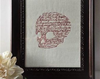 Shakespeare's Hamlet, William Shakespeare artwork, Hamlet artwork, Shakespeare Home Decor
