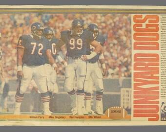 1980s Chicago Bears Sun-Times Poster Junkyard Dogs NFL Football Newsprint Insert