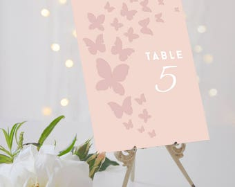 Butterfly Wedding Table Numbers // Butterfly Table Numbers // Butterfly Wedding // Covent Garden Collection // Elle Bee Design