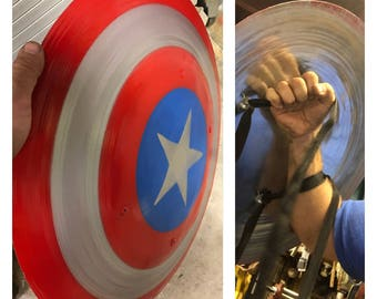 22 inch Steel Captain America Inspired Shield with Straps!