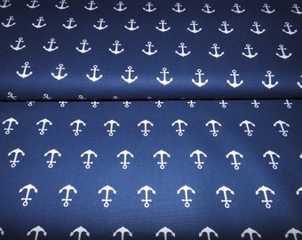 Cotton anchor Navy white Öko-TeX