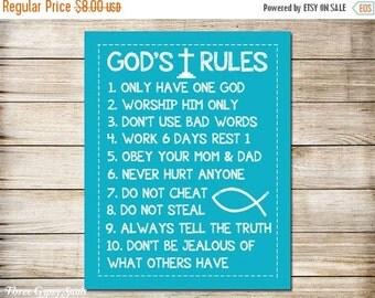 Ten Commandments Etsy
