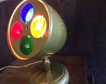Vintage Spartus Prisma color wheel Christmas light