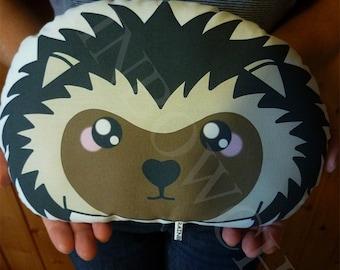 Decorative cushion / a little hedgehog plush