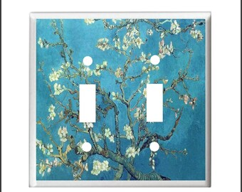 ALMOND BLOSSOMS Tree Van Gogh Light Switch Cover or Outlet Home  Decor Free Shipping to US