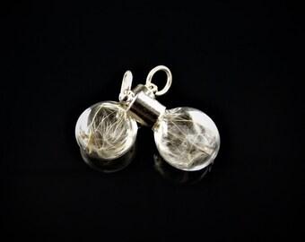 Flat Sphere Mini Emergency Wish Charm/Pendant
