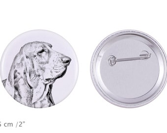 Buttons with a dog - Basset Hound
