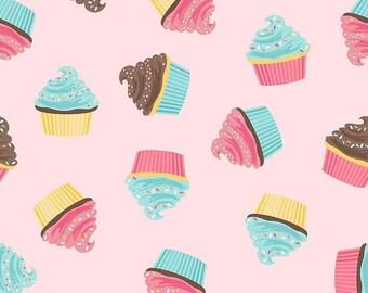Riley Blake 2016 Novelty Cupcakes Pink (Half metre)