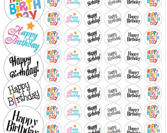 "Happy Birthday Envelope Seals - 1.2"" Happy Birthday Stickers - 144 Stickers - 25112"