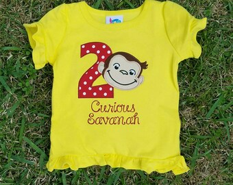 Curious George Birthday Shirt, Monkey Birthday, Curious George Birthday