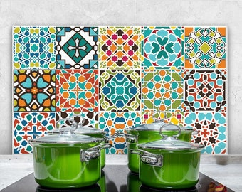"PR00006 ""Splashguard Cadiz"" 100x60 cm printed on acrylic glass Kitchen Design Stickers"