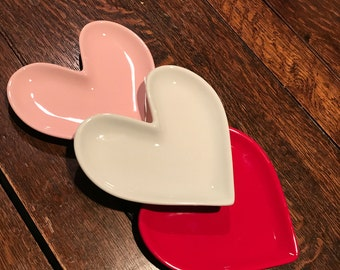 Personalized Ceramic Valentine Heart Plate
