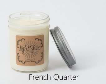 French Quarter | Vanilla Bean | 8 ounce Soy Candle, Jar Candle