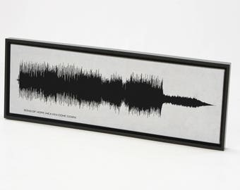 Song of Hope (Heaven Come Down) - Song SoundWave Art - Created From Entire Song
