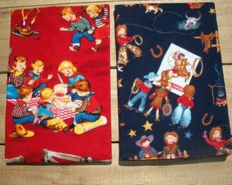 Cowboy Baby Burp Cloths Set Of 2 Flannel
