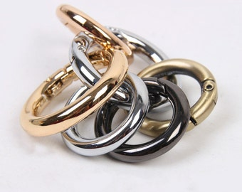 1 pc -Round Ring Gate Oval Spring Snap Hooks Gate Ring