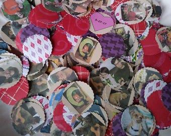 Mini Photos -Personalized Photo Confetti (quarter size)