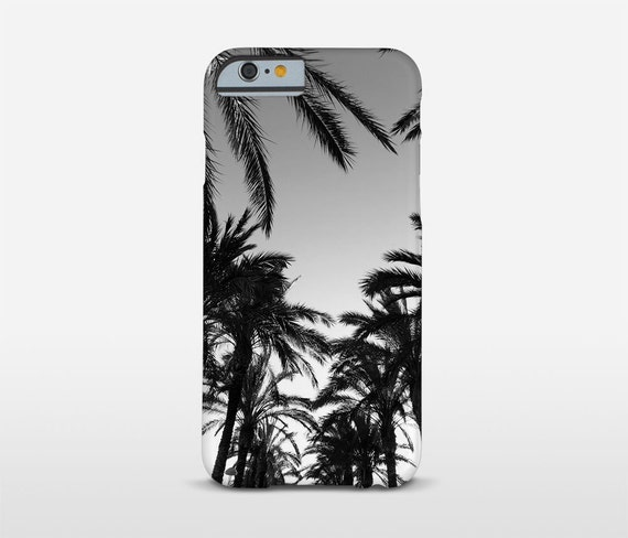 Palm Tree Phone Case, iPhone 7 Cases, Black And White, Tropical Phone Cases, Galaxy S6 Edge, HTC Case and more
