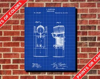 Beer Cooler Patent Print, Beer Patent, Tavern Poster, Bar Art, Brewing Art, Tavern Sign, Home Decor