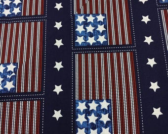 Patriotic Pride Fourth of July July 4 States USA Red White and Blue American Flag Fabric Studio Pattern 3598 77