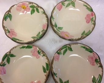 Franciscan Desert Rose Cereal Bowls - Set of 4