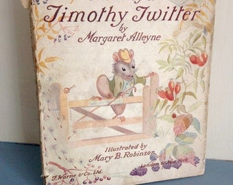 Beautiful Vintage Children's Story Book 'The Story of Tommy Twitter' Margaret Alleyne 1946 1st Edition